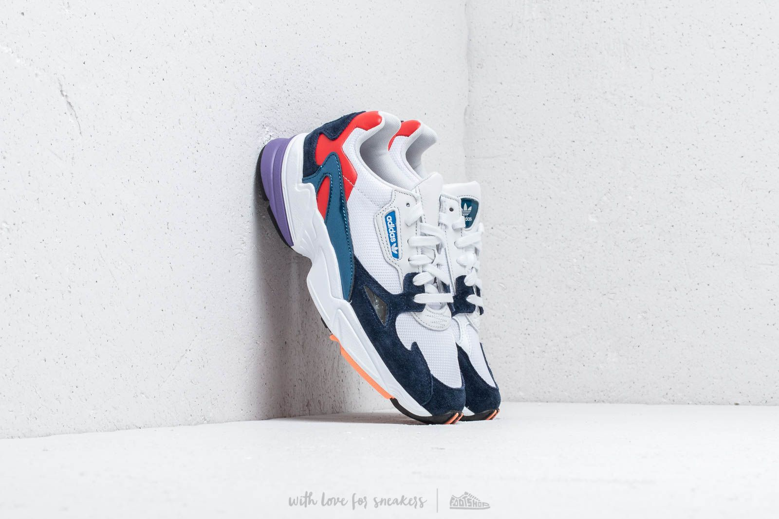 adidas Falcon W Crystal White Crystal White Conavy | Footshop