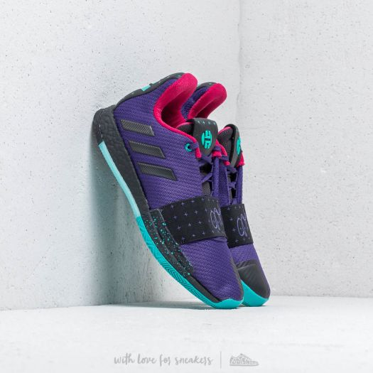 super popular 609e8 a14d8 adidas Harden Vol.3 Collegiate Purple  Core Black  Hi-Res Aqua