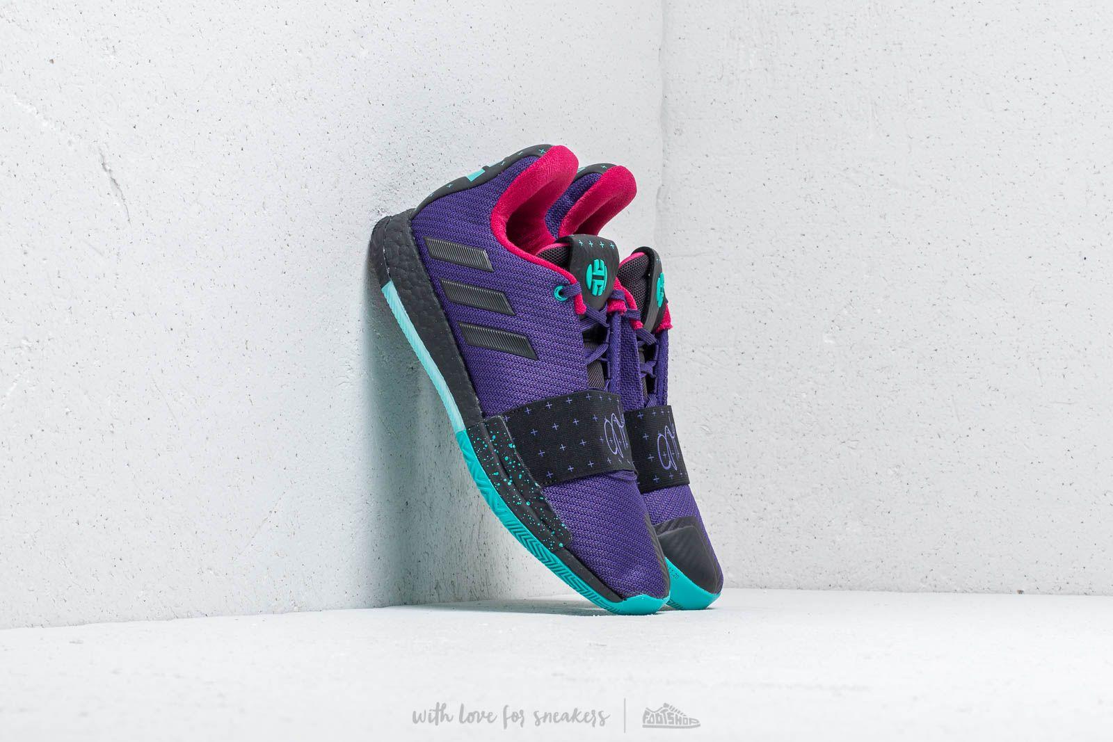 finest selection 5402f aa4a4 adidas Harden Vol.3 Collegiate Purple Core Black Hi-Res Aqua at