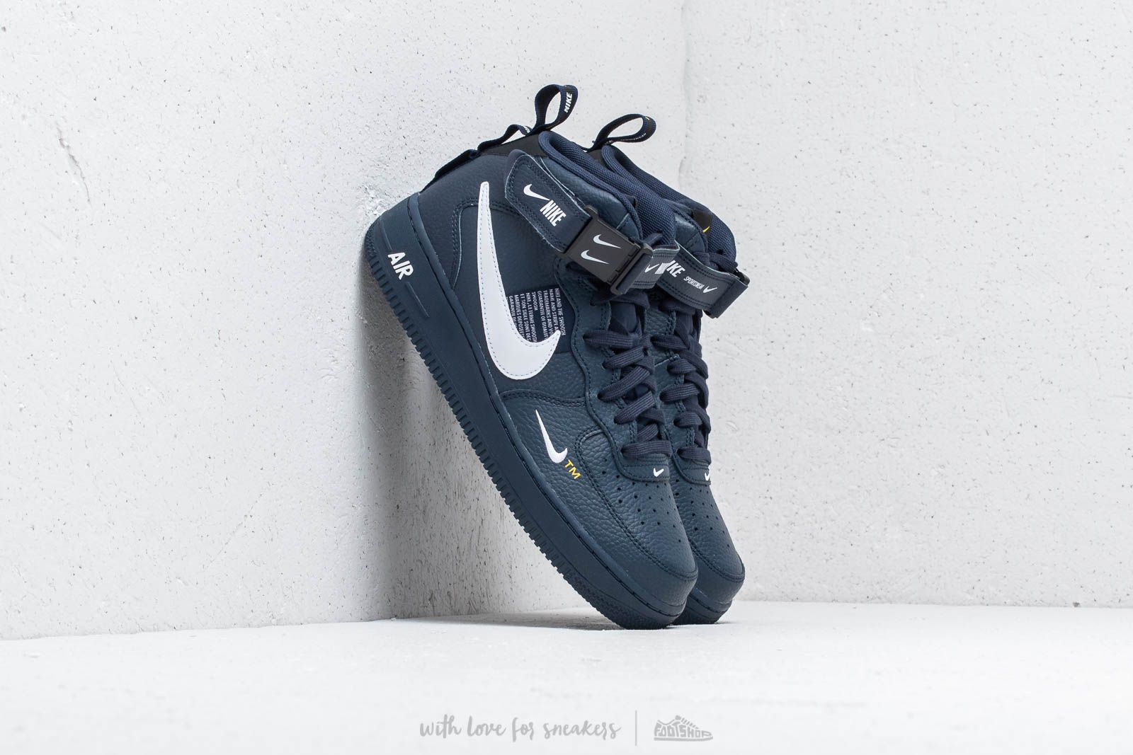 9c45b7901267 Nike Air Force 1 Mid  07 Lv8 Obsidian  White  Black