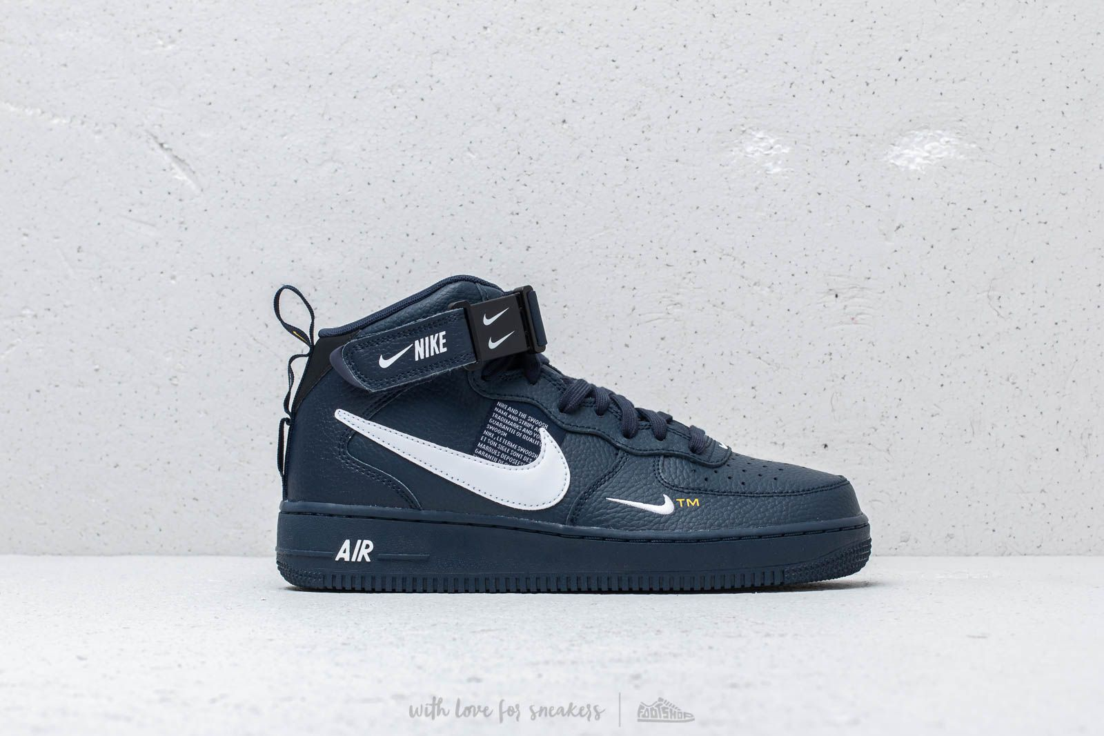 Nike Air Force 1 Mid '07 Lv8 Obsidian White Black | Footshop