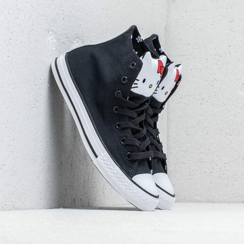 Converse x Hello Kitty Chuck Taylor All Star Hi Black/ Fiery Red/ White EUR 32