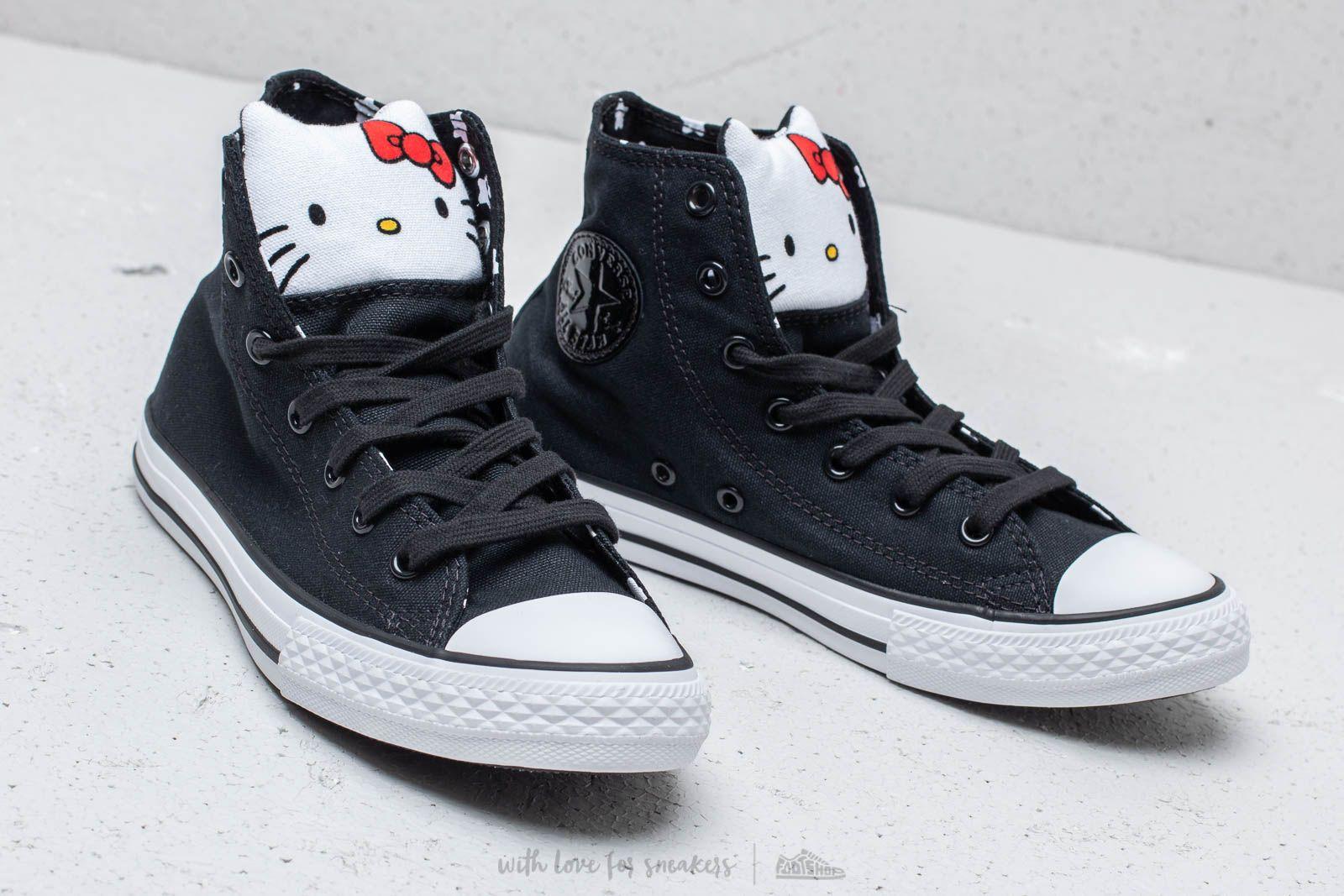 Converse x Hello Kitty Chuck Taylor All Star Hi Black Fiery Red White | Footshop