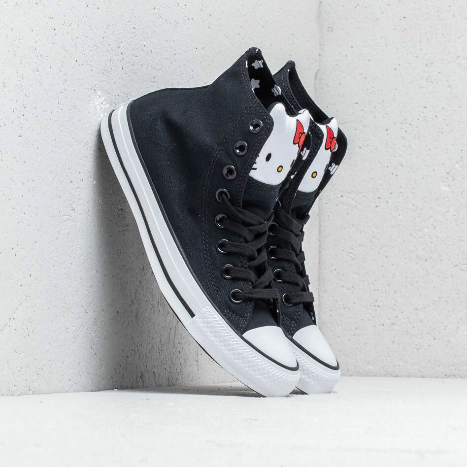 Converse x Hello Kitty Chuck Taylor All Star Hi Black/ Fiery Red/ White EUR 39.5