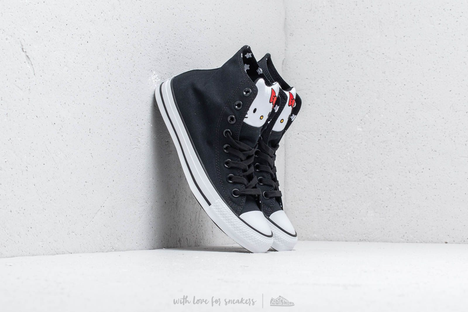 088ca22bff5efb Converse x Hello Kitty Chuck Taylor All Star Hi Black  Fiery Red  White at