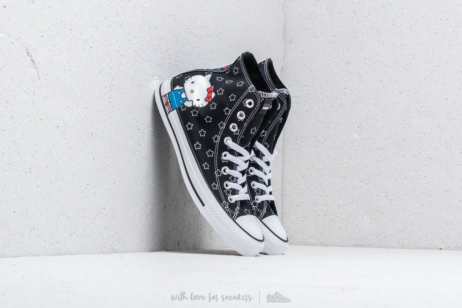 c4b56d24b12a Converse x Hello Kitty Chuck Taylor All Star Hi Black  White  Directoire  Blue at
