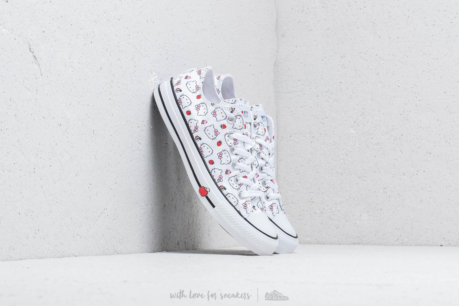 Converse x Hello Kitty Chuck Taylor All Star Ox White/ Fiery Red/ Prism Pink za skvělou cenu 1 990 Kč koupíte na Footshop.cz