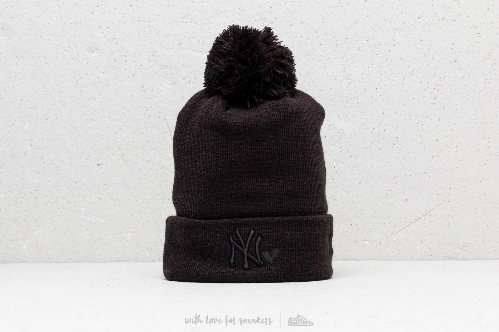 9b7a43d8fb1 New Era MLB NY Yankees Heart Knit Beanie Black