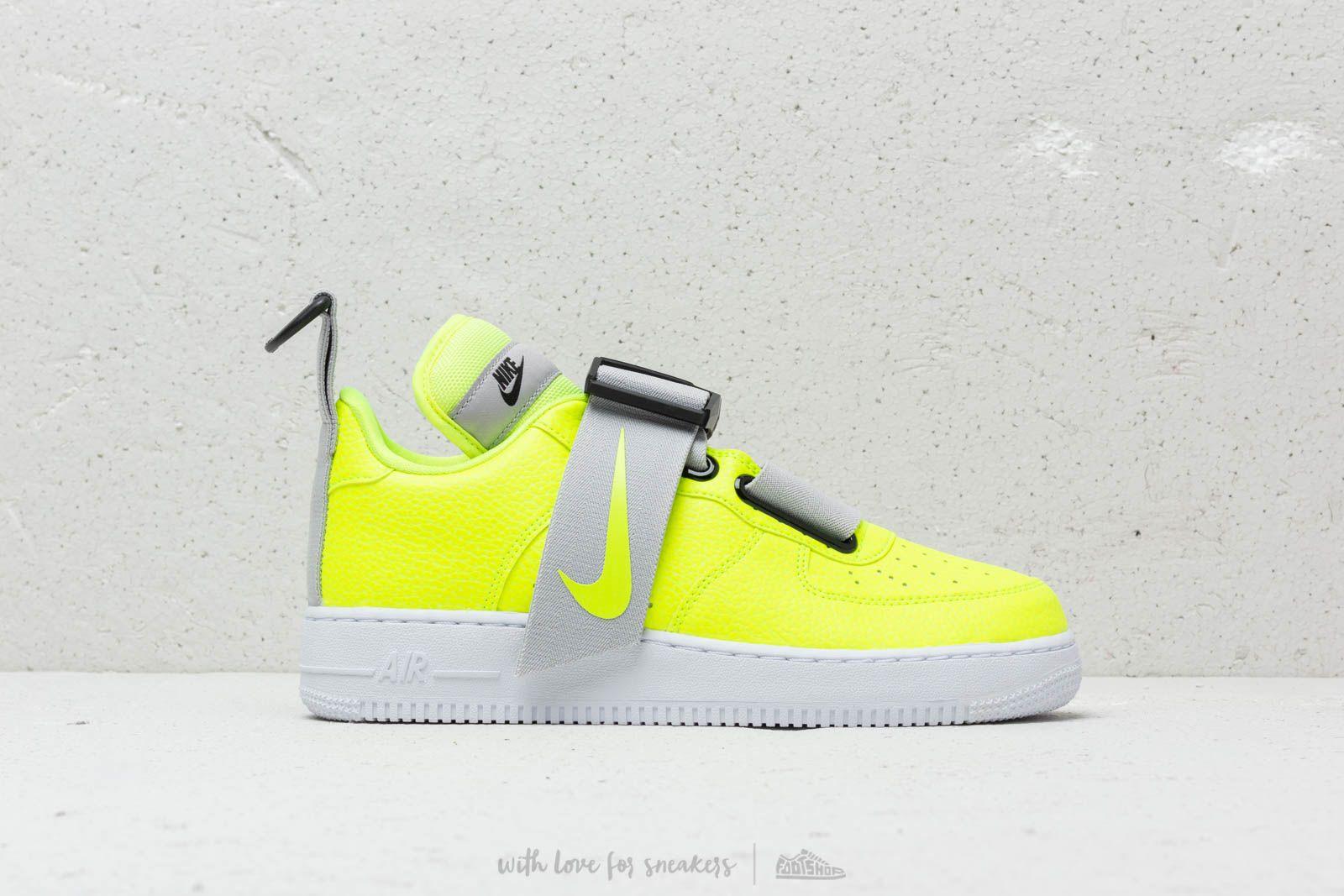 Nike Air Force 1 Utility Volt White Black | Footshop