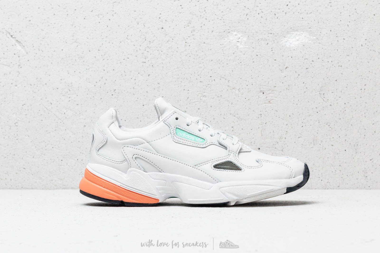 adidas Falcon W Crystal White Crystal White Easy Orange | Footshop