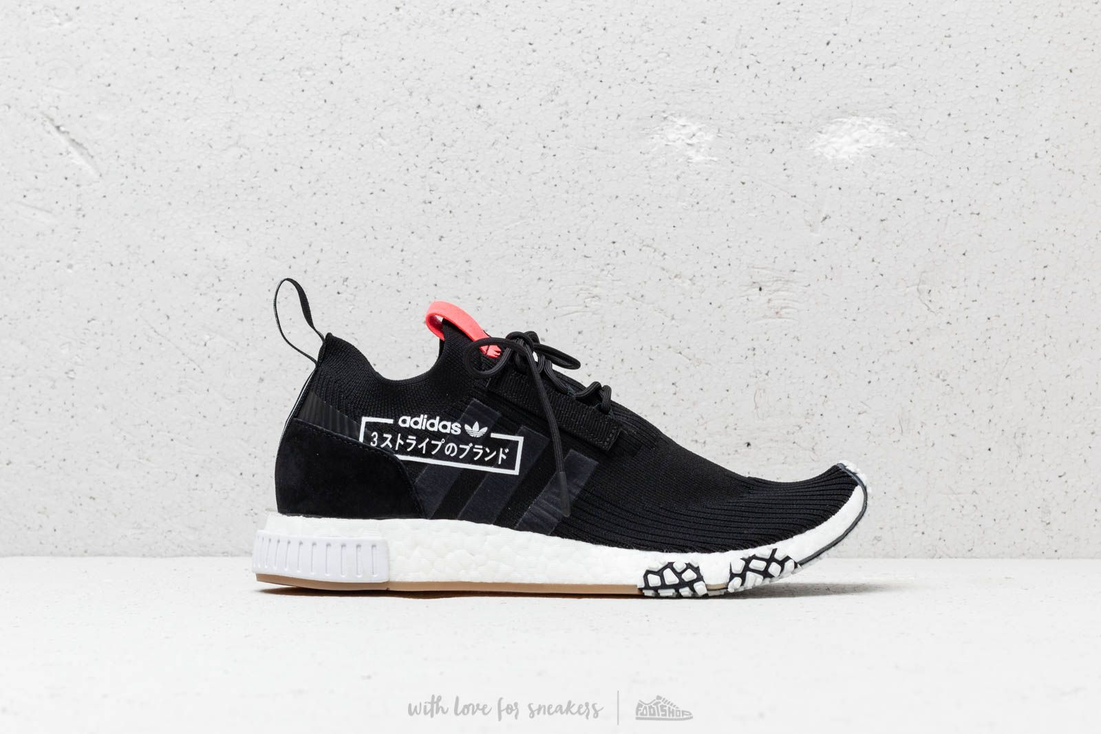266c3386ec628 adidas NMD Racer Primeknit Core Black  Core Black  Flash Red at a great  price