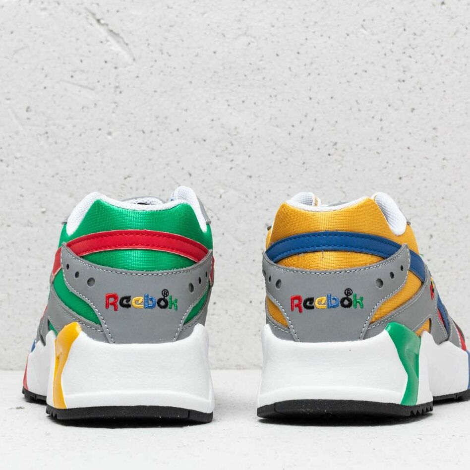 Reebok x Billy's Aztrek Grey/ Colbalt/ Big Green, Multicolour