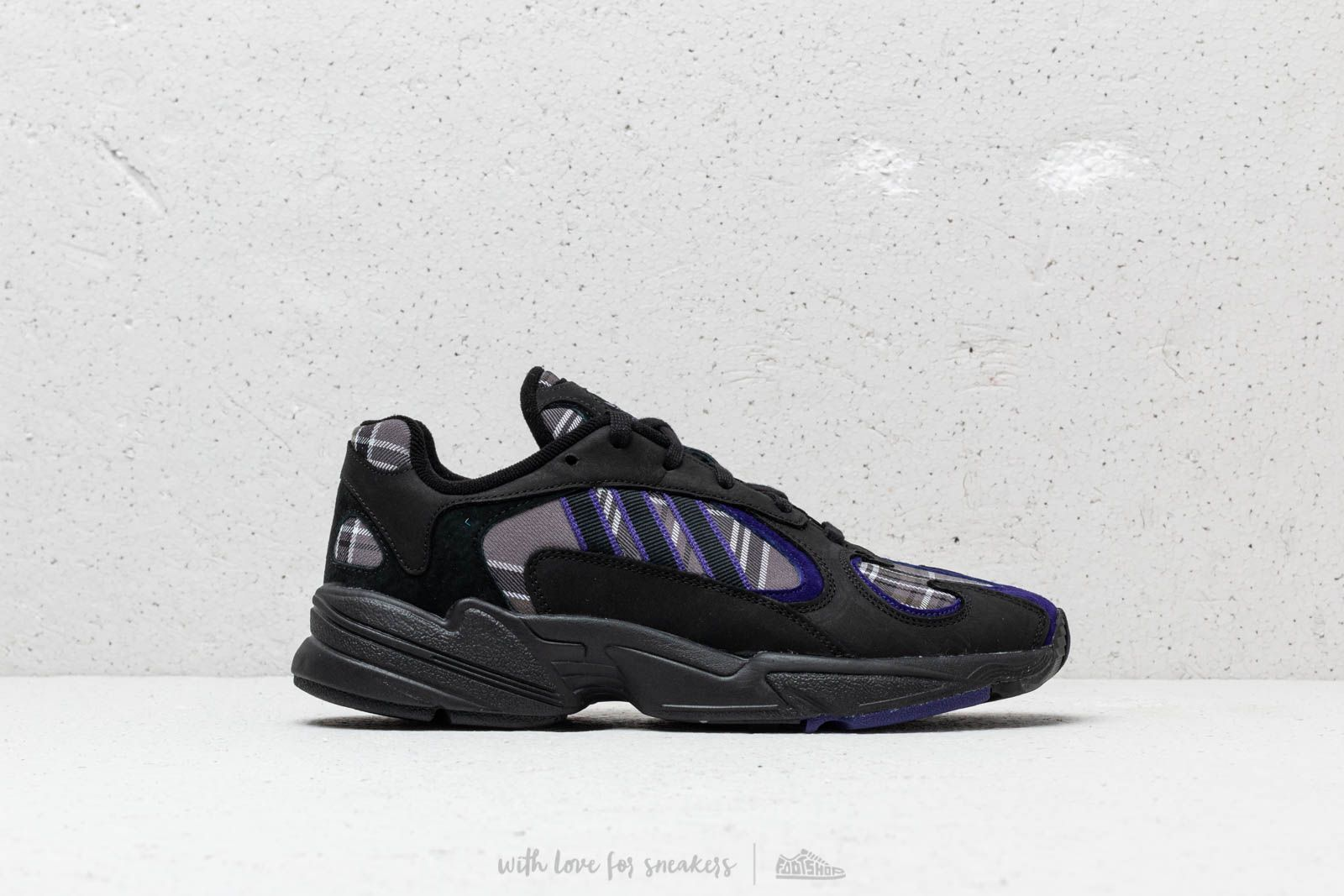 online retailer 44787 2cdef Adidas Yung-1 Core Black Core Purple Core Black at a great price