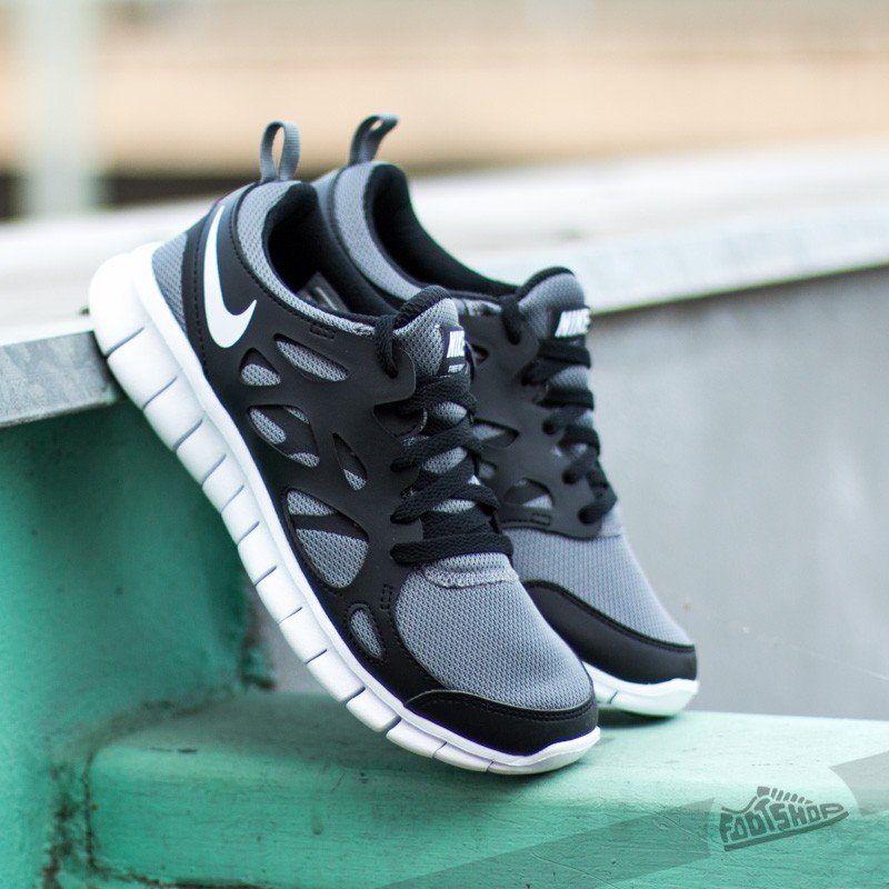 Nike Free Run 2 (GS) Cool Grey/ Black/ White | Footshop