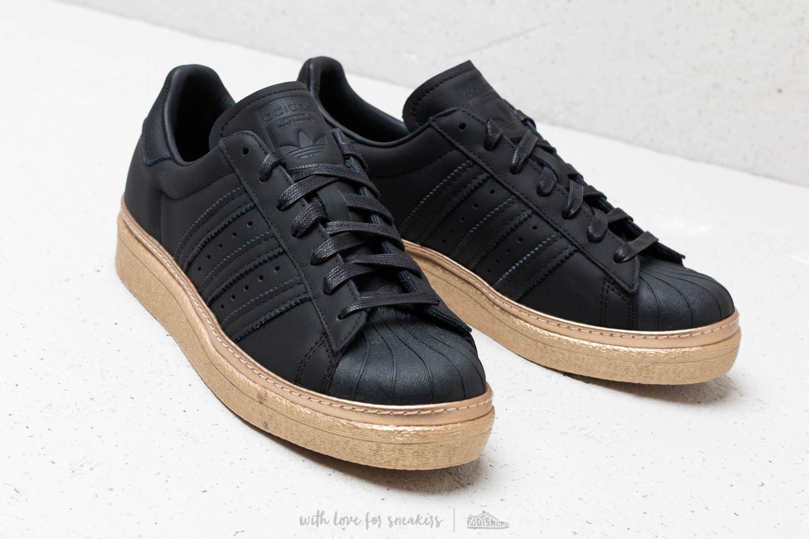 buy online e16c5 f64e3 adidas Superstar 80s New Bold W Core Black/ Core Black/ Gold ...