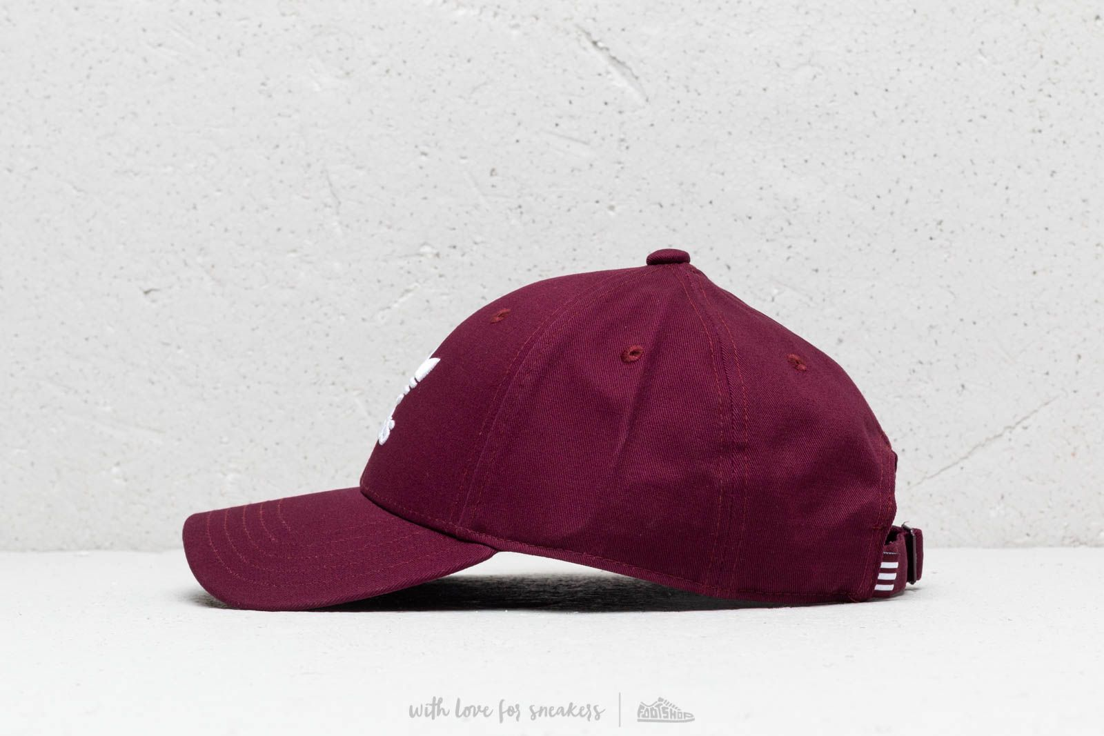 adidas Baseb Class Trefoil Cap Maroon  White at a great price £13 buy at 7b483bd8f19d