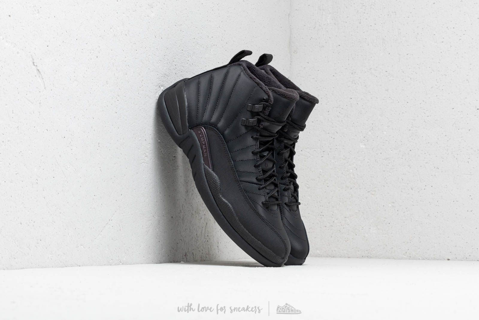 "273db0cca9a97a Air Jordan 12 Winterized ""Triple Black"" Black  Black-Anthracite at a great"