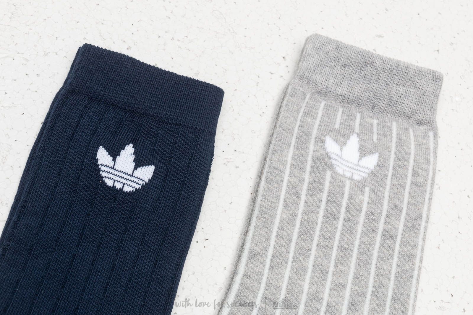 8710a65e adidas Mid Ribbed Crew Socks 2 Pairs Pack Collegiate Navy/ Medium Grey  Heather | Footshop