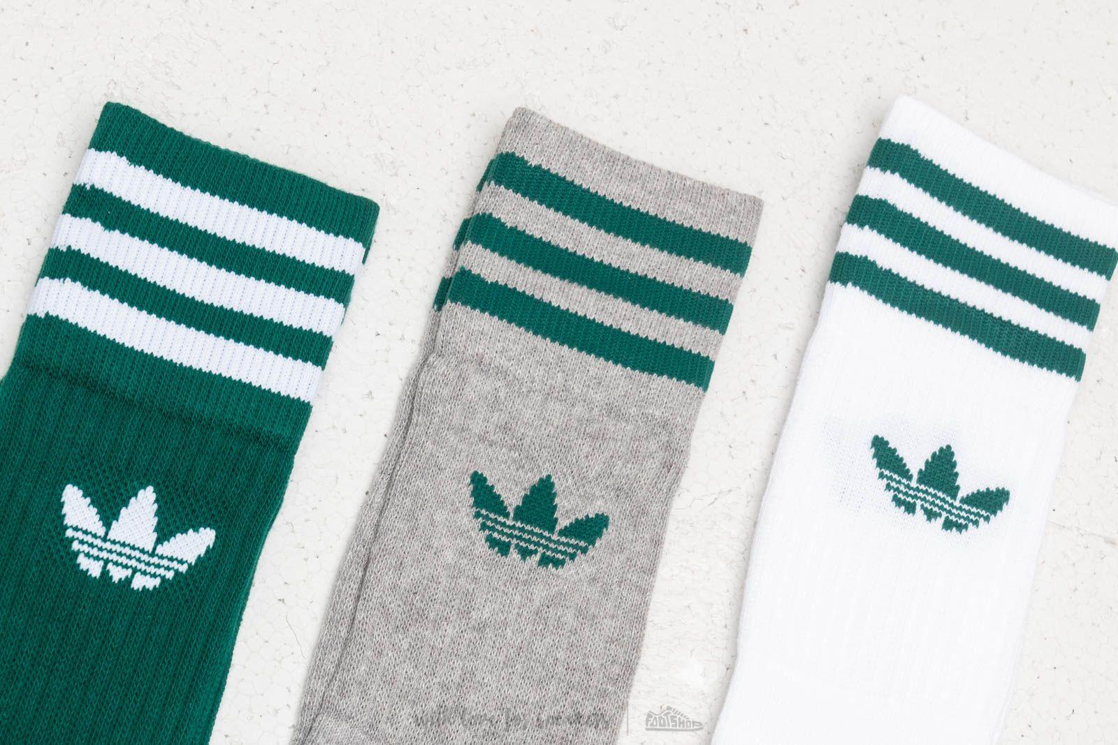 Adidas Originals Solid Crew Socks Multi Color Footshop