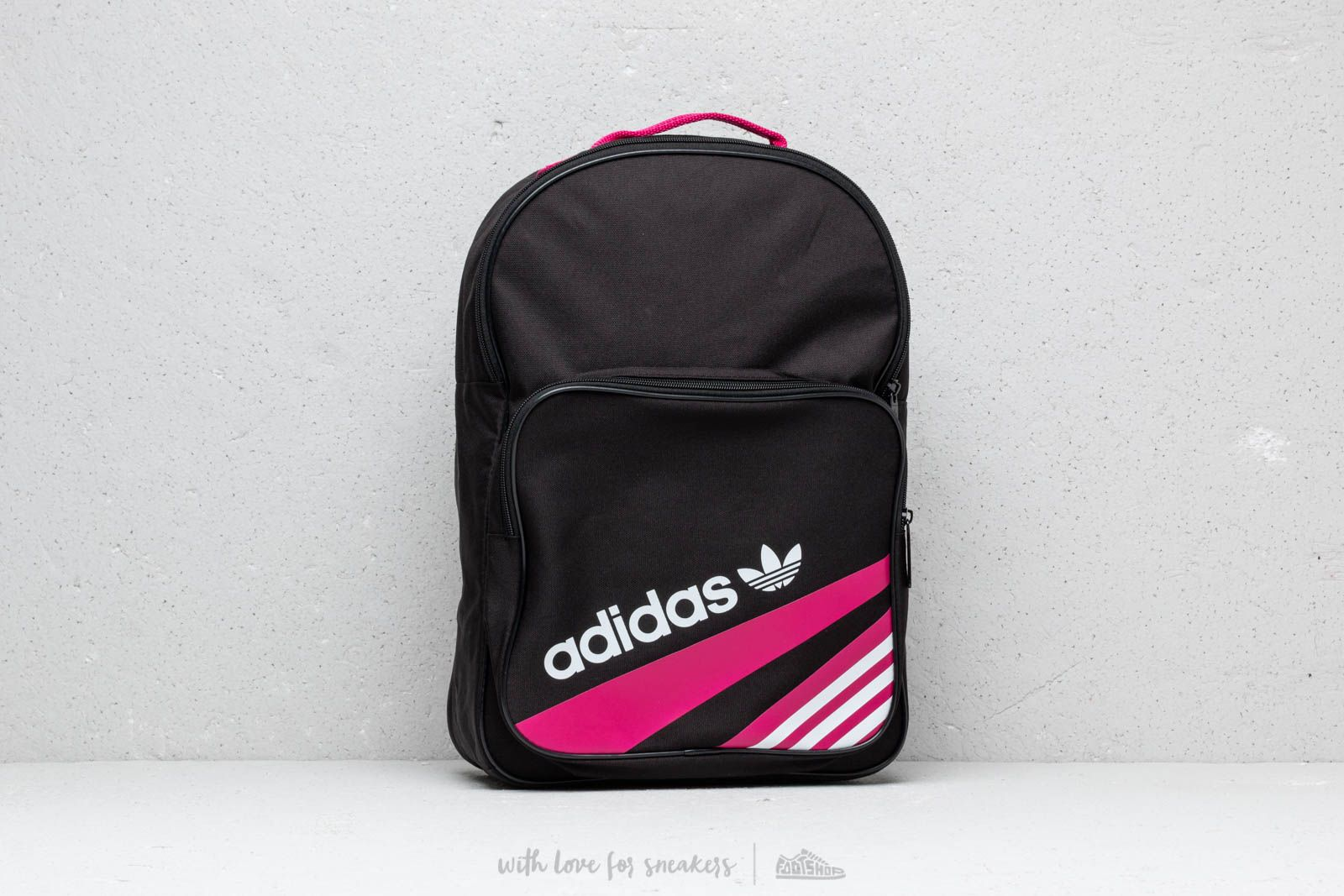 4fb4b1a38ebc adidas Classic Backpack Black  Bold Pink at a great price £26 buy at  Footshop