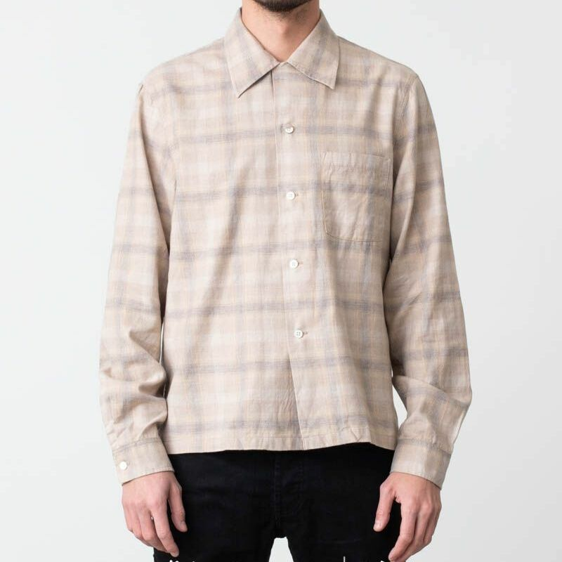 Our Legacy P. X. Evening Shirt Yellow Shadow Check, Brown