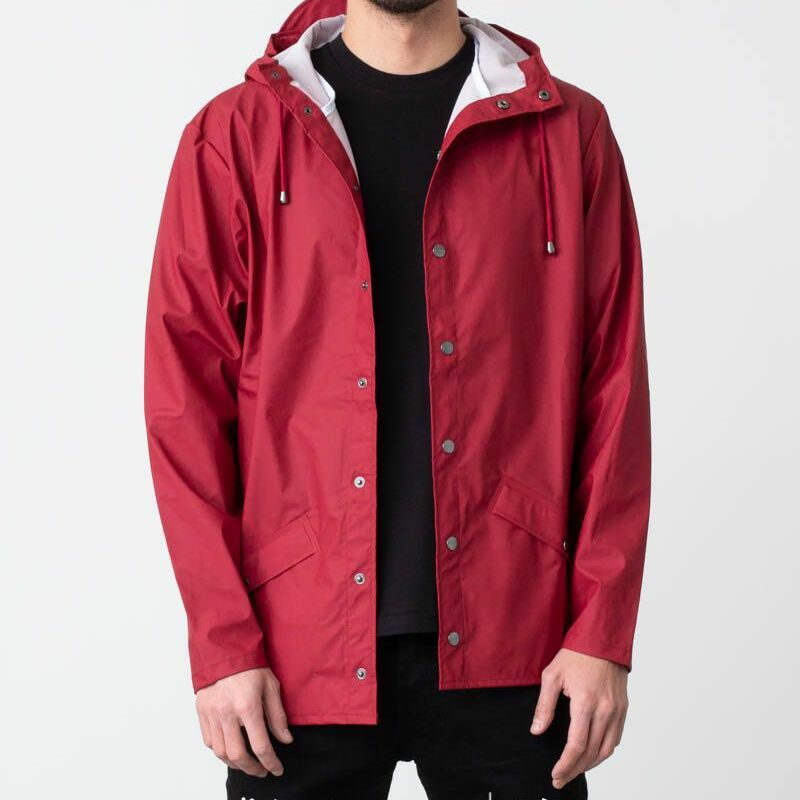 Rains Jacket Scarlet, Red