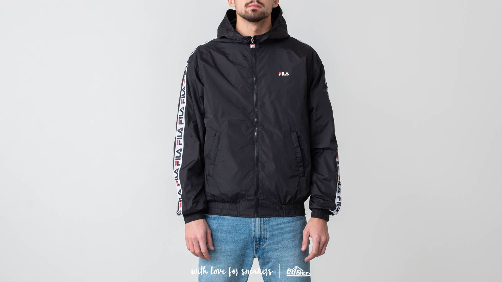 5d75fd427ba8 FILA Tracey Tape Wind Jacket Black at a great price 95 € buy at Footshop