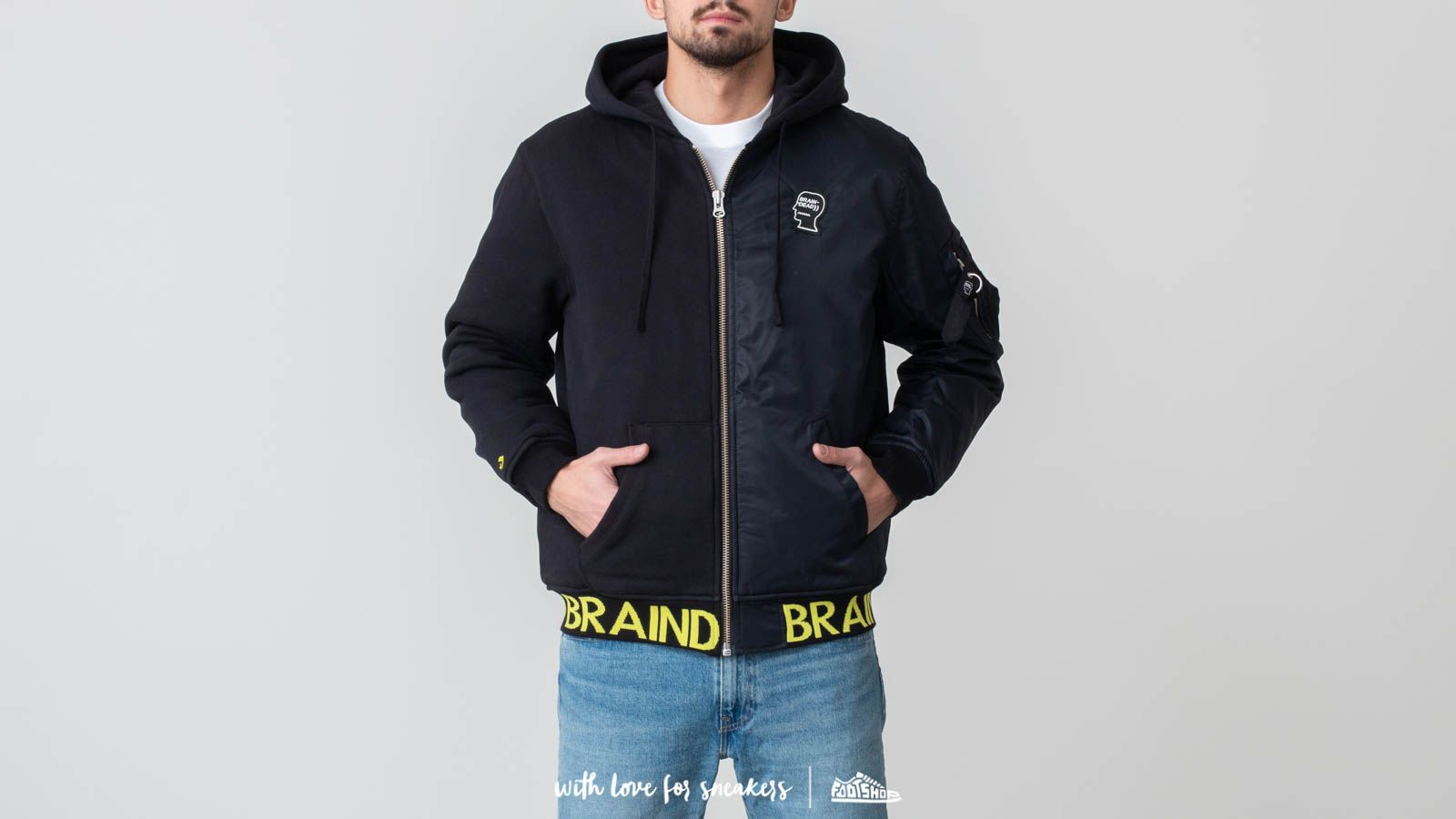 Converse x Brain Dead Bomber Jacket Black at a great price 120 € buy at Footshop