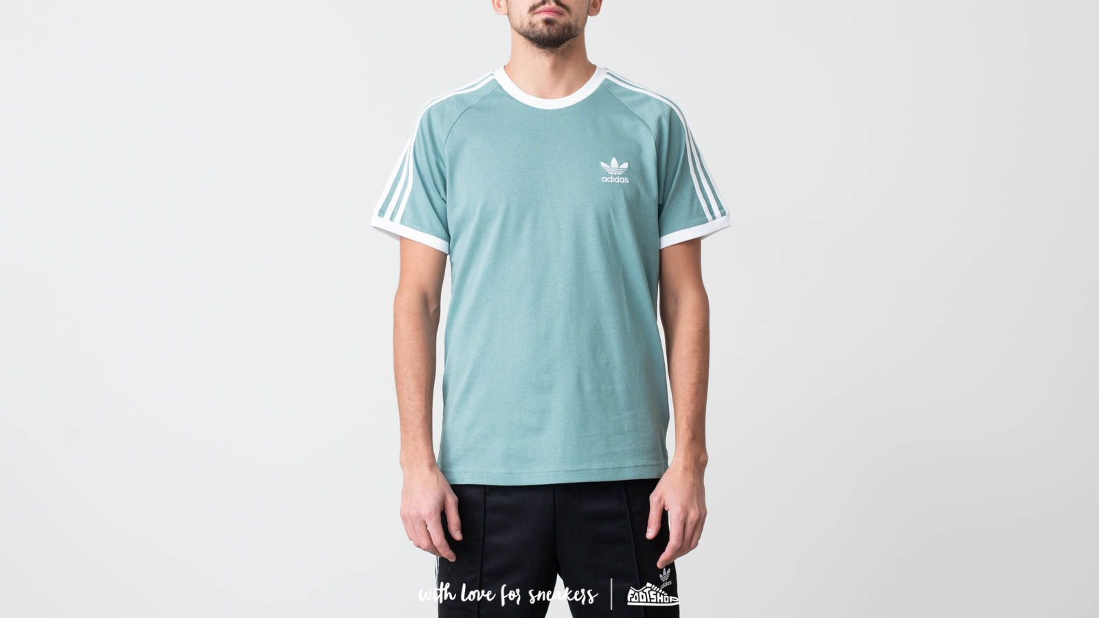 adidas 3-Stripes Tee Vapour Steel | Footshop