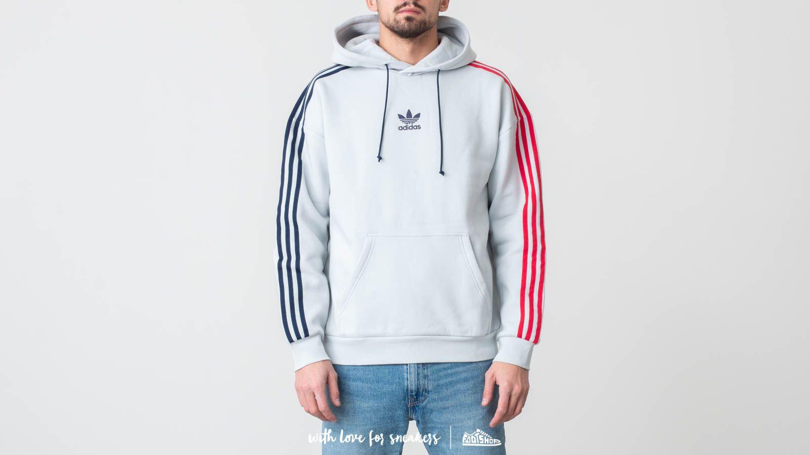 af69ff62abfd adidas Originals 3 Stripe Hoody Gray