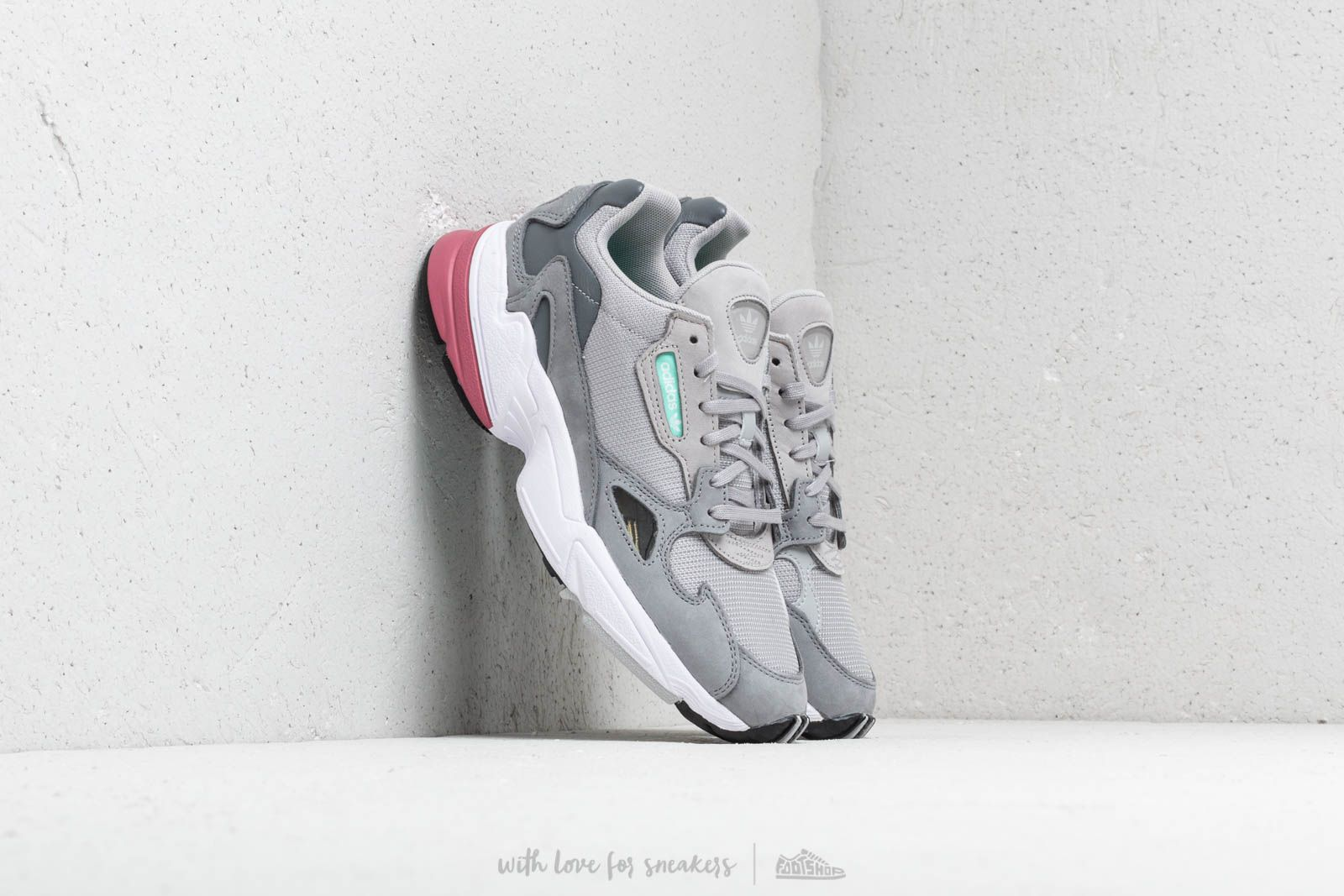 buy popular e2024 828ce adidas Falcon W Grey Two Grey Two Trace Maroon at a great price 99
