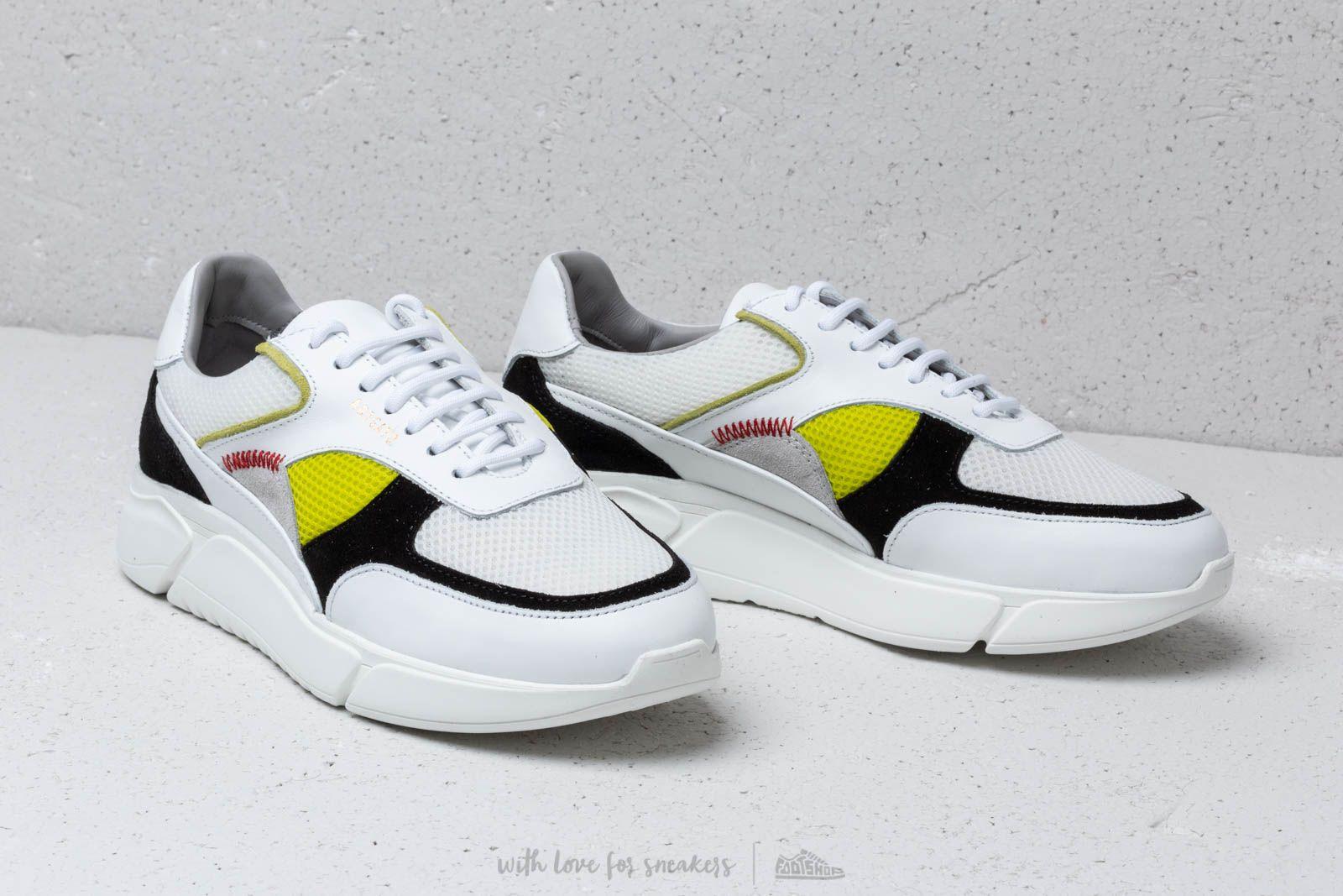 AXEL ARIGATO Genesis SneakerWhite Black Yellow