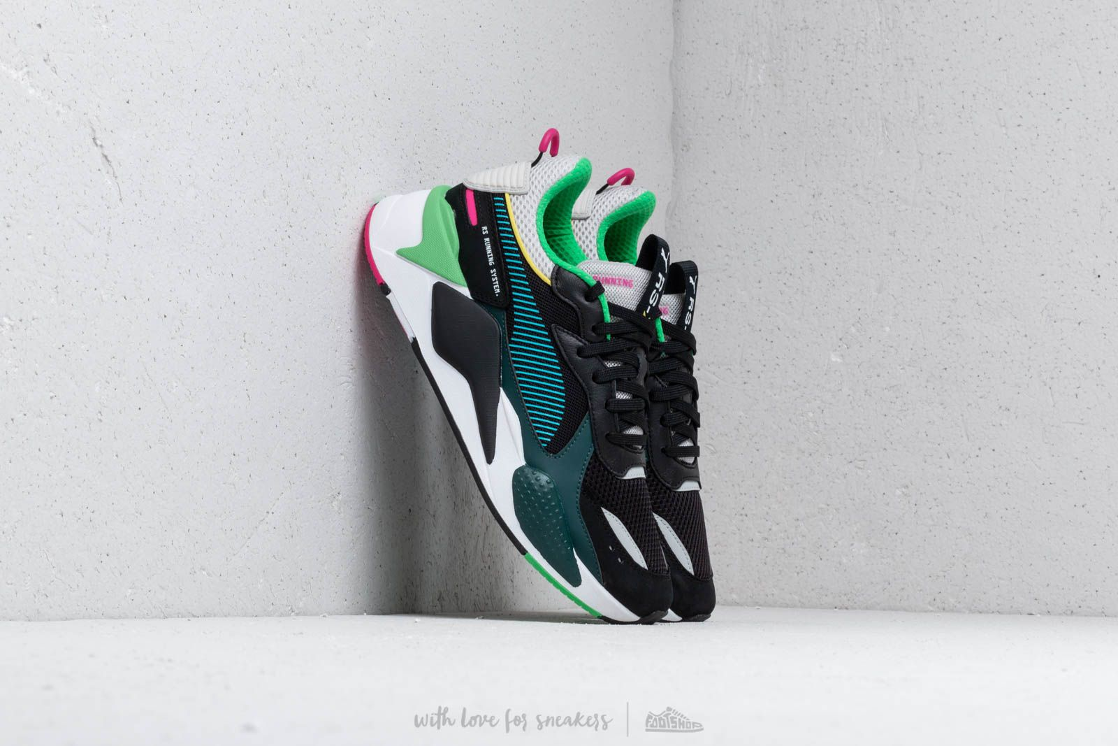 a96cd466a30b Puma RS-X TOYS Puma Black  Blue Atoll