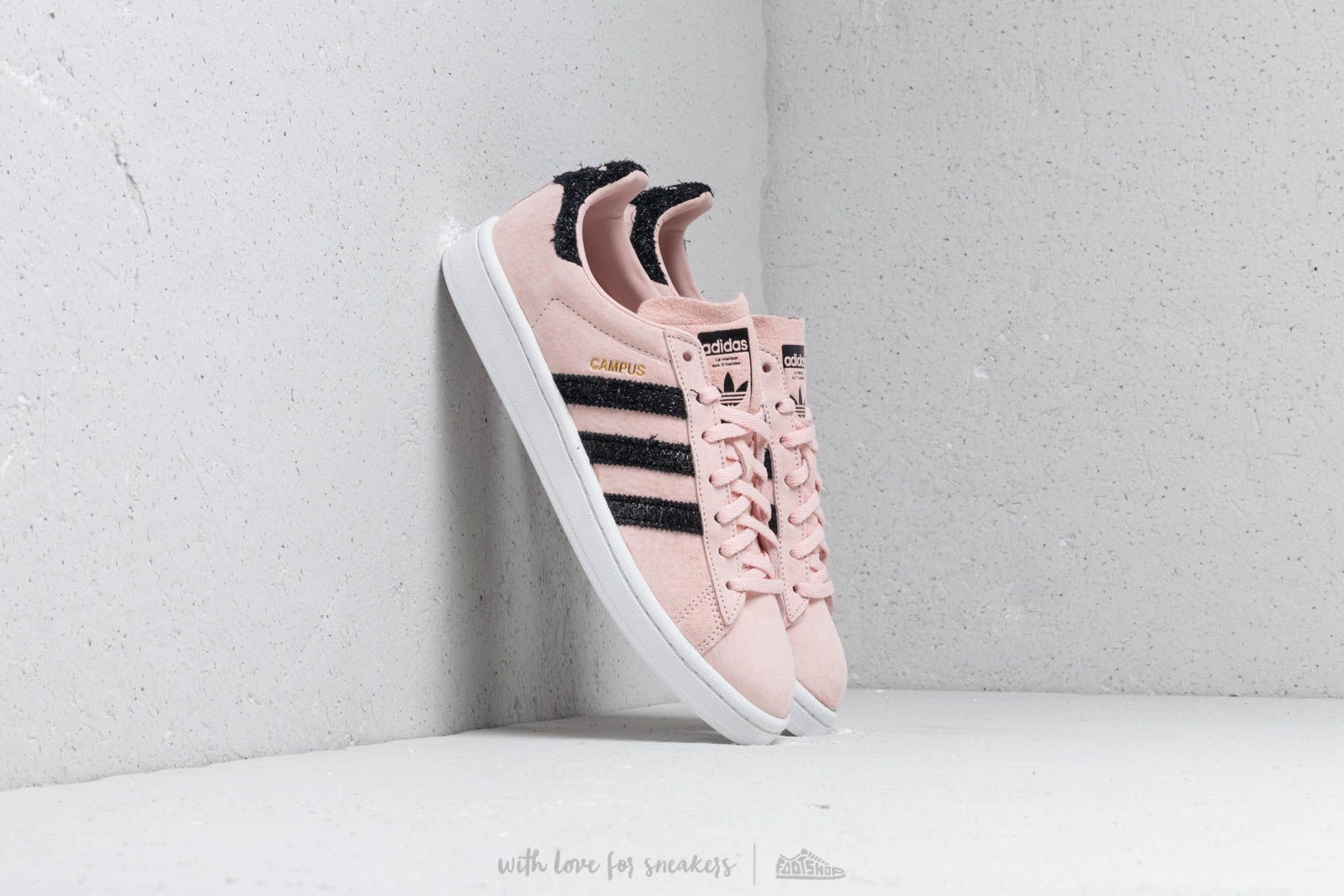 detailed look 26a67 994e7 adidas Campus W Ice Pink Core Black Crystal White au meilleur prix 99 €