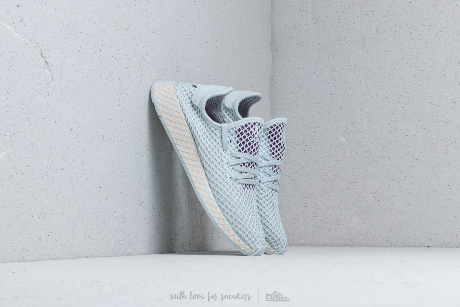 adidas Deerupt Runner W Blue Tint/ Ecru Tint/ Active Purple