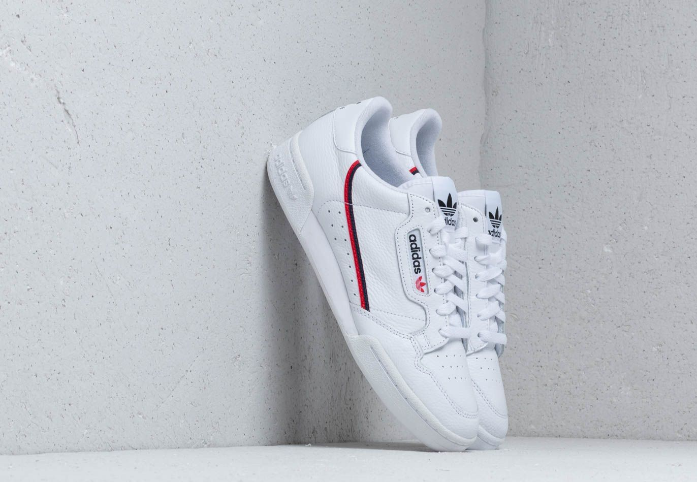 adidas Continental 80 Cloud White/ Scarlet/ Collegiate Navy