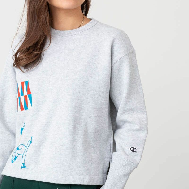 Champion x WOOD WOOD Lucy Reverse Weave Crewneck Grey, Gray