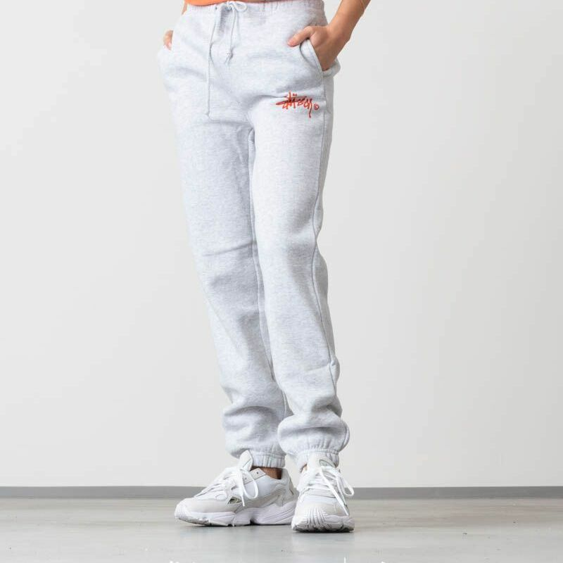 Stüssy Basic Logo Sweat Pants Ash Heather, Gray