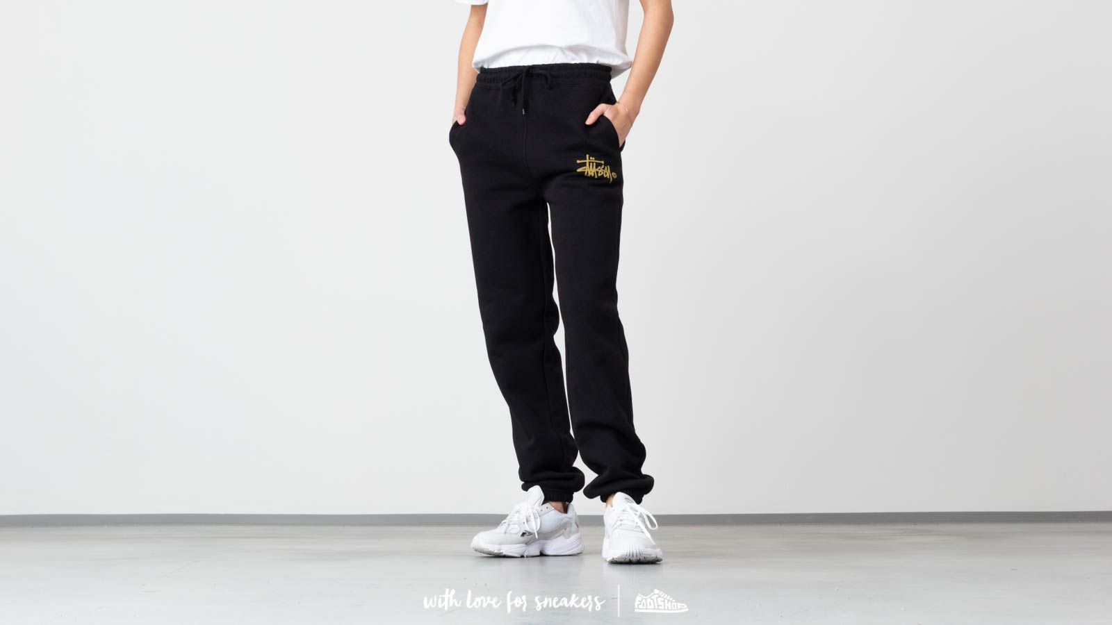Stüssy Basic Logo Sweat Pants Black