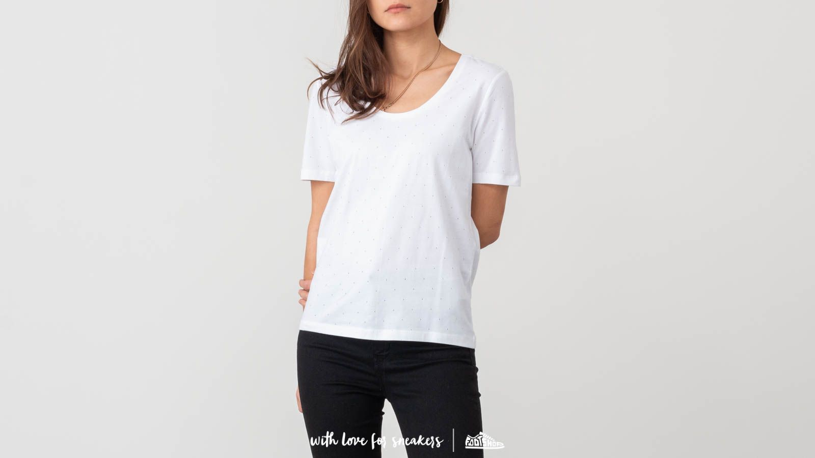 Trička SELECTED Timeless Tee W White
