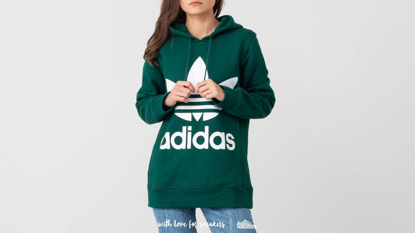 adidas Trefoil Hoodie Collegiate Green at a great price 66 € buy at Footshop 87b5b54a3f