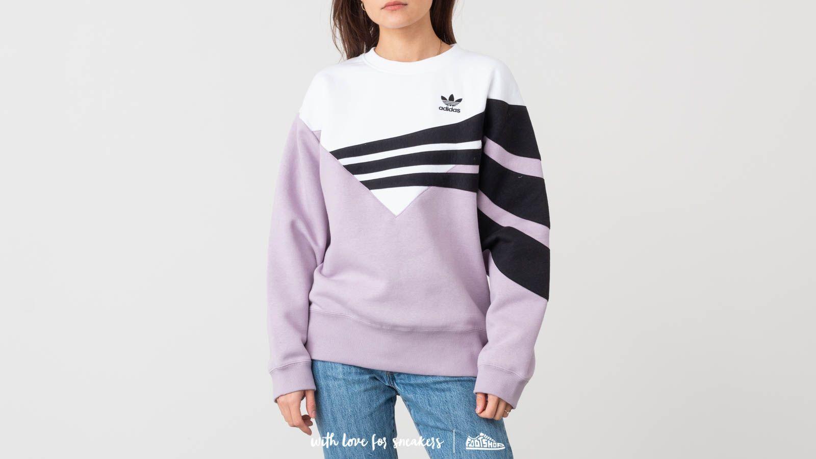 white and black adidas sweatshirt