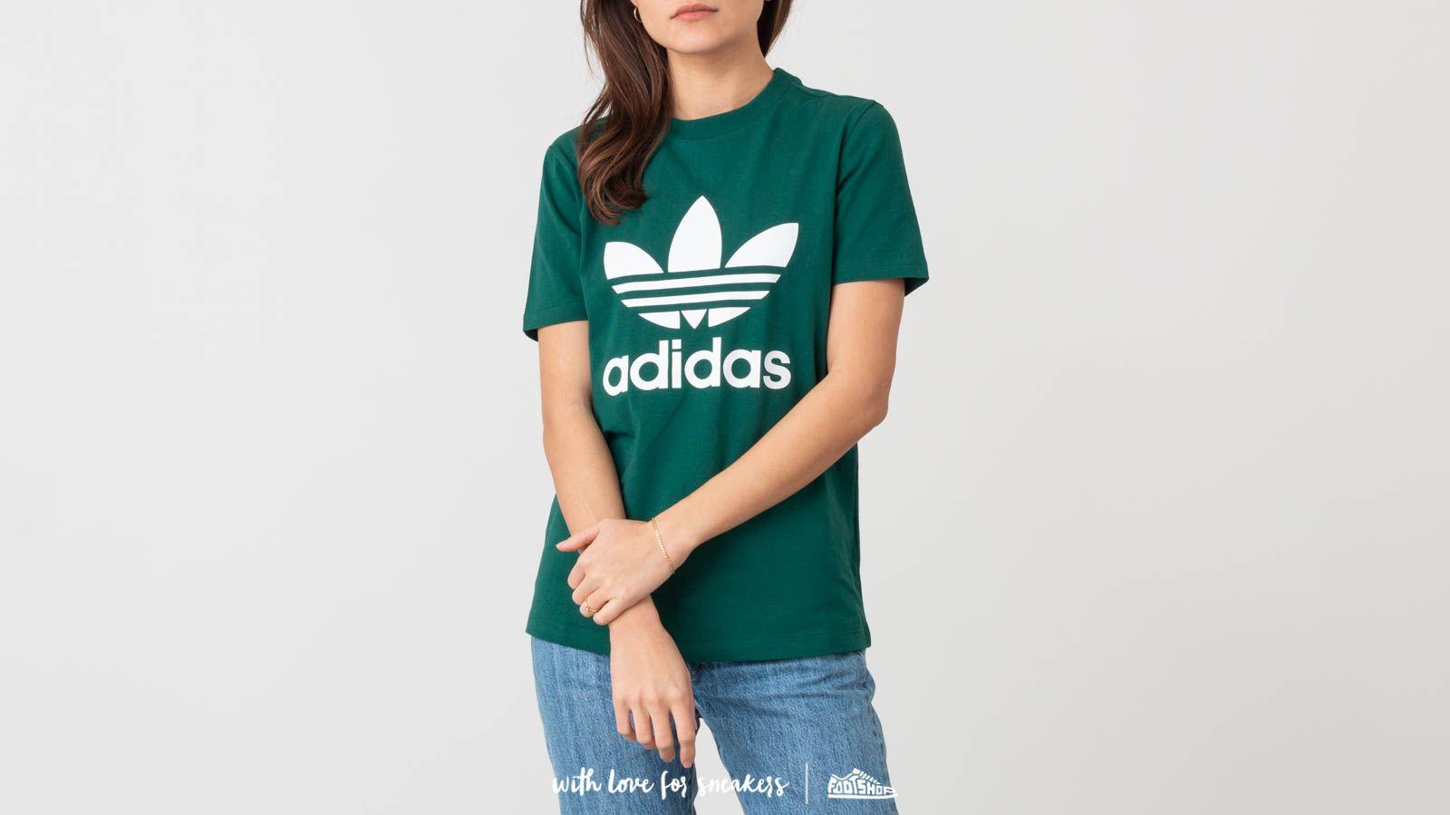 adidas Trefoil Tee Collegiate Green | Footshop