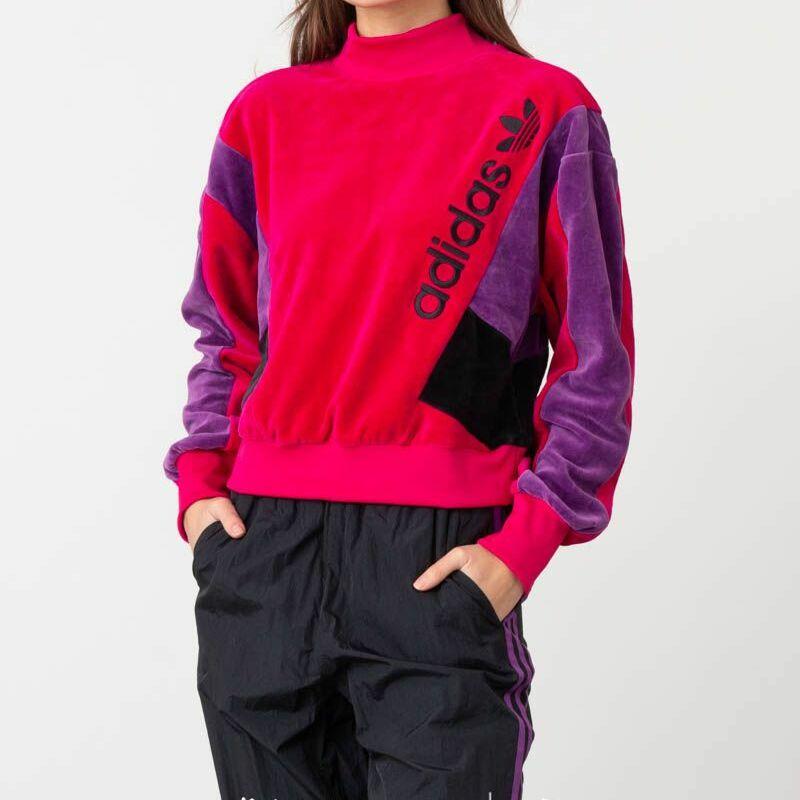 adidas Crew LG Sweatshirt Pink/ Purple/ Black
