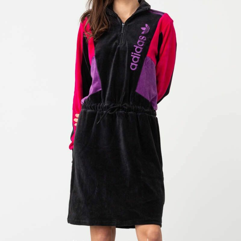 adidas Track Jacket Dress Black 38