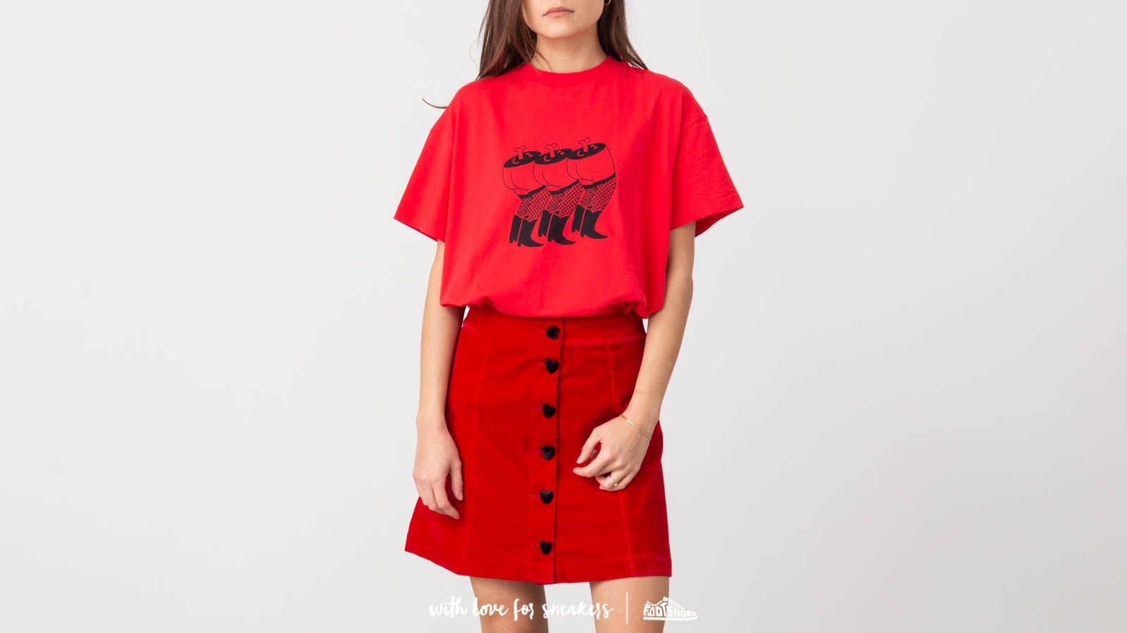 Lazy Oaf Happy Legs Oversize Tee