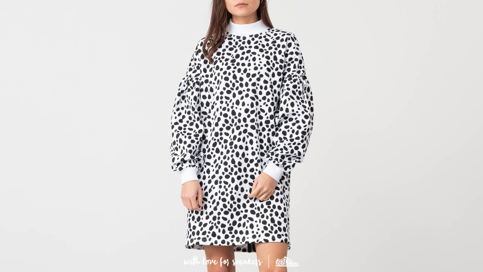 8faceb00a4 Lazy Oaf Spotty Zip Sweater Dress White  Black at a great price 79 € buy