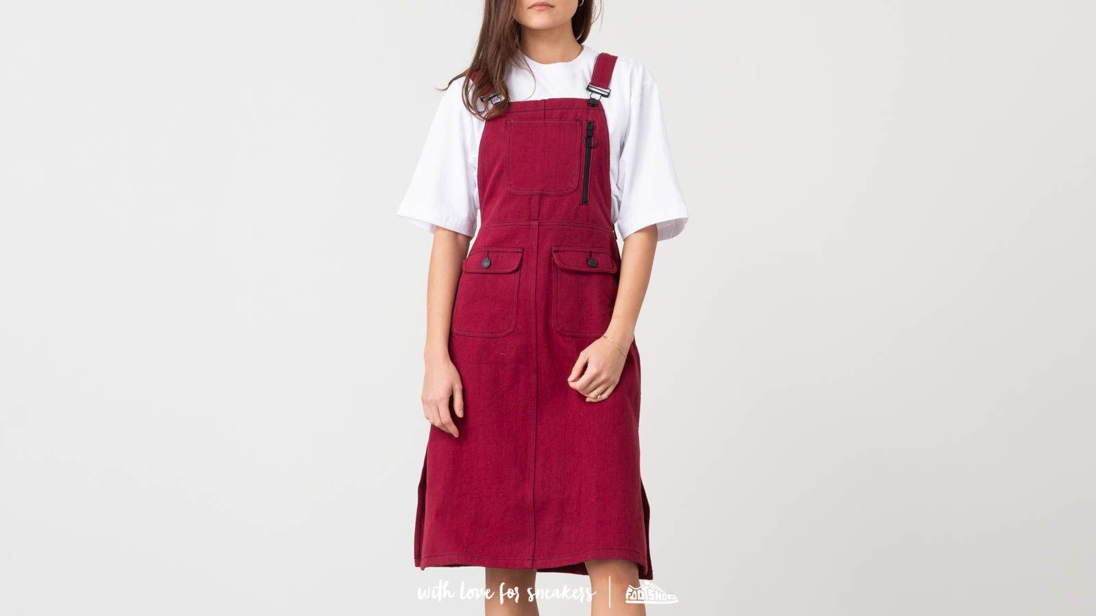 Lazy Oaf Contrast Stitch Pinafore Dress