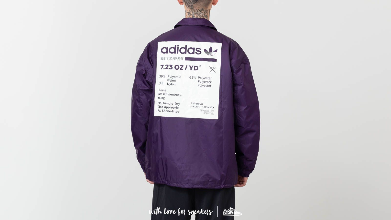 Dzsekik adidas Kaval Jacket Dark Violet Cloud White   Footshop