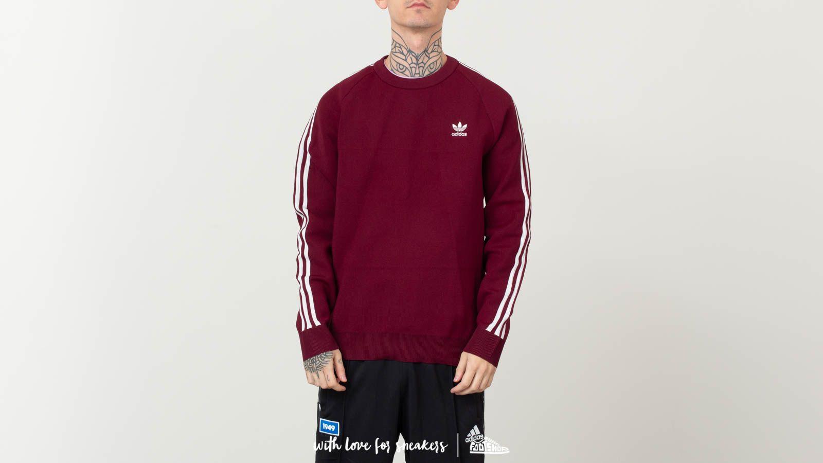 Sweatshirts adidas Originals Knit Crewneck Maroon | Footshop